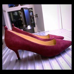 Suede kitten heels